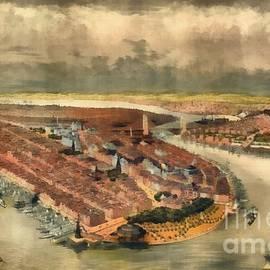 Vintage Manhattan Island - Edward Fielding