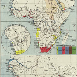 Vintage Map of European Possessions in Africa - English School
