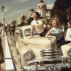 R Muirhead Art - Vintage Opel Kapitan 51 With Beautiful Classic Advert