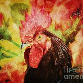 Tina LeCour - Vintage Rooster Print