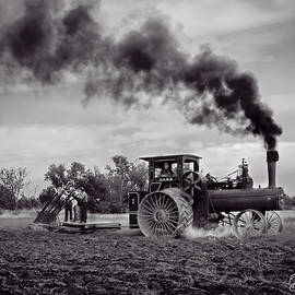 F Leblanc - Vintage Steam Farming - Monochrome