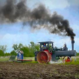 F Leblanc - Vintage Steam Farming - Painting