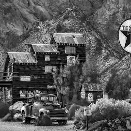 Susan Candelario - Vintage Texaco Gas Station BW