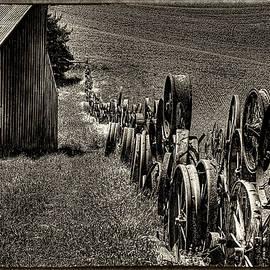 David Patterson - Vintage Wheel Fence