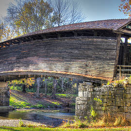 Michael Mazaika - Virginia Country Roads - Humpback Covered Bridge Over Dunlap Creek No. 6A - Alleghany County