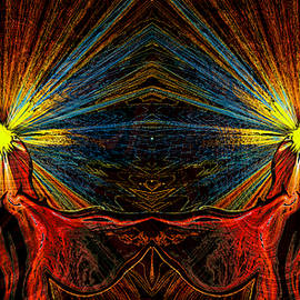 Abstract Alien Artist Stephen K - Visions of Angel Twins