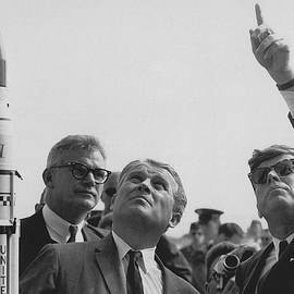 Von Braun and JFK Looking Towards The Sky - War Is Hell Store