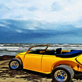 Chas Sinklier - VW Roadster at the Beach on Padre Island with VivaChas