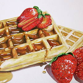 Lillian Bell - Waffles and strawberries