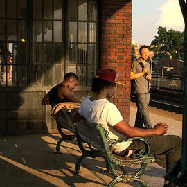 Miriam Danar - Waiting for the 409 - Train Station Late Afternoon