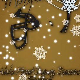 WAKE FOREST DEMON DEACONS CHRISTMAS CARD - Joe Hamilton