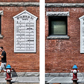 Geoffrey Coelho - Walking on Railroad Street - Quadtych