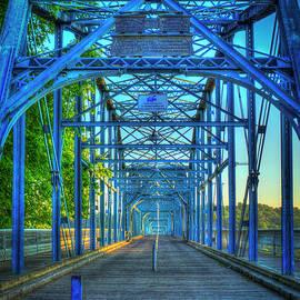 Reid Callaway - Walking Tall Walnut Street Pedestrian Bridge Art Chattanooga Tennessee