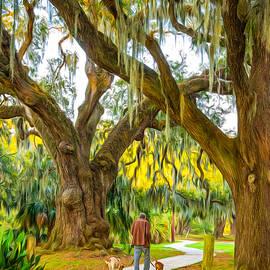 Steve Harrington - Walking the Dogs in New Orleans - Paint