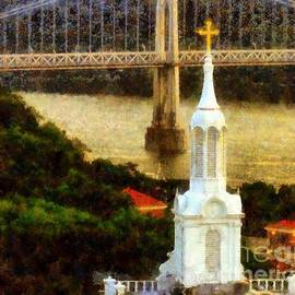 Janine Riley - Walkway over the Hudson - Our Lady of Mount Carmel Church Steeple