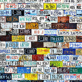 Christine Till - Wall of American License Plates