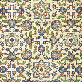Wall tiles of Qasr Rodouan - Emile Prisse d