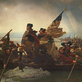 Washington Crossing the Delaware Painting  - Emanuel Gottlieb Leutze