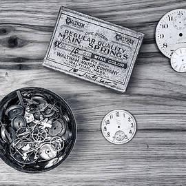 Tom Mc Nemar - Watch Parts on Wood Still Life
