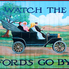 Watch the Fords Go By Model T Vintage Sign Greenfield Village Dearborn Michigan - Design Turnpike