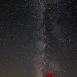 Silvio Ligutti - Watching in Awe as the Milky Way Rises Panorama - Enchanted Rock Fredericksburg Texas Hill Country