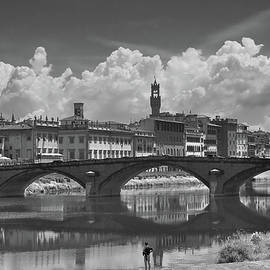 Watching the Arno from the Shore