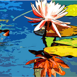 Geraldine Scull   - Water flower water color