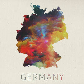 Watercolor Map of Germany - Design Turnpike