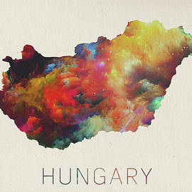 Watercolor Map of Hungary - Design Turnpike