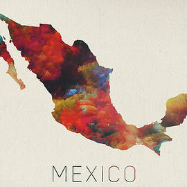 Watercolor Map of Mexico - Design Turnpike
