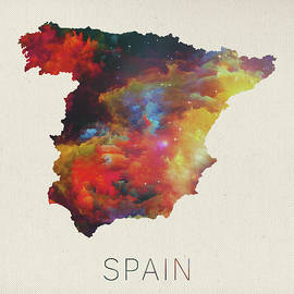 Watercolor Map of Spain - Design Turnpike