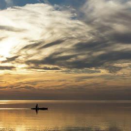 Georgia Mizuleva - Watercolor Paddle - Kayaking Through a Glorious Silken Morning