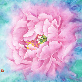 Tina Zhou - Watercolor Pink Flower