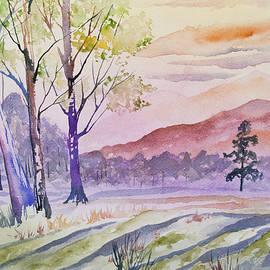 Cascade Colors - Watercolor - Rocky Mountain Sunset