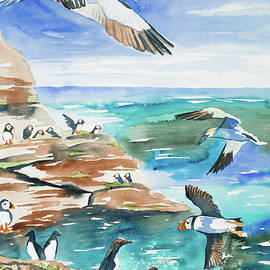 Cascade Colors - Watercolor - Seabirds of the North Atlantic