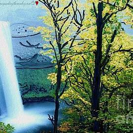 Catherine Lott - Waterfall Original Monkey Painted Fresh Paint
