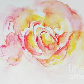 CheyAnne Sexton - Watery Peach Rose watercolour