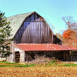 William Sturgell - Weathered Barn in Autumn