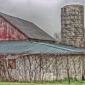 William Sturgell - Weathered Barn on an Overcast Day