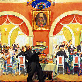 Wedding Feast, 1917 - Boris Mikhailovich Kustodiev