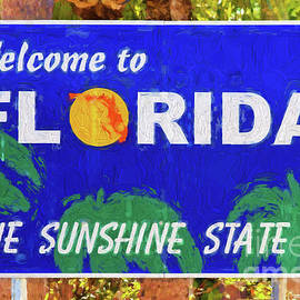 Les Palenik - Welcome To Florida Sign
