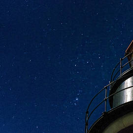 Marty Saccone - West Quoddy Head Lighthouse Beacon Against Starry Sky