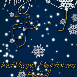 WEST VIRGINIA MOUNTIANEERS CHRISTMAS CARD 2 - Joe Hamilton