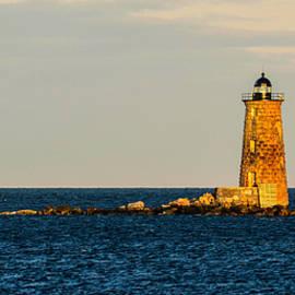 Nancy  de Flon - Whaleback Lighthouse at Sunset