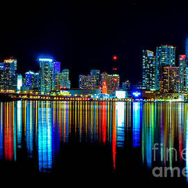 Rene Triay Photography - When the Miami City Lights Hit the Bay Waters