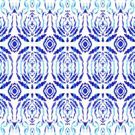 Irina Sztukowski - Whimsical Geometry In Blue