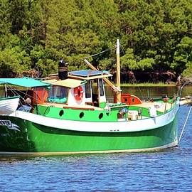 Cynthia Guinn - White And Green Boat