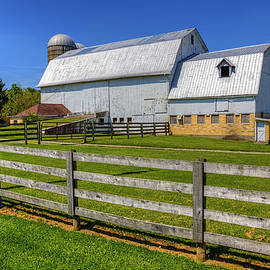 William Sturgell - White Barn and a Wooden Fence