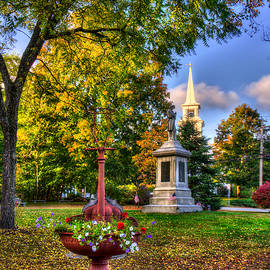 Joann Vitali - White Church in Autumn - Hopkinton NH