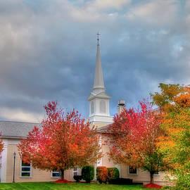Joann Vitali - White Church in Autumn -